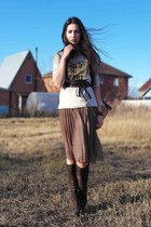 reserved sweatshirt - Zara bag - reserved skirt