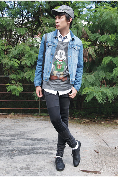 Topman jacket - H&M jeans - Topman tie - asos t-shirt