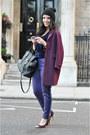 Warehouse-coat-31-phillip-lim-bag-velvet-h-m-top-violet-three-floor-pants