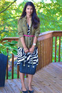 Loft-dress-loft-jacket-kate-spade-bag-sam-edelman-flats-ann-taylor-belt