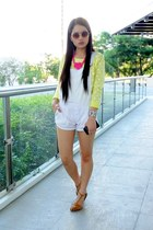 white House of Eva jumper - yellow crop pinkaholic sweater