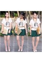 Maris bag - Forever 21 tights - WAGW belt - WAGW skirt - WAGW necklace