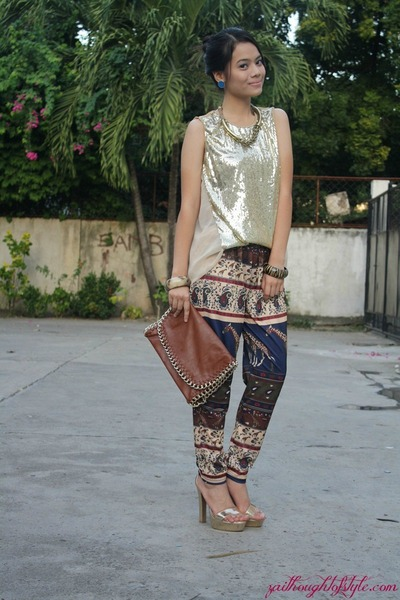SM GTW top - Forever 21 heels - SM GTW pants - WAGW necklace