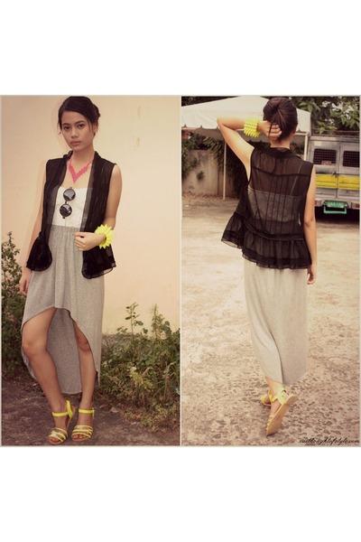 corset Papaya clothing top - Forever 21 vest - WAGW skirt