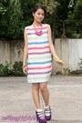 Polka-dot-esprit-socks-candy-colors-celine-necklace