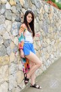 Blue-scallop-hem-clothes-for-the-goddess-shorts
