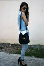 Light-blue-monkee-business-vest-light-blue-forever-21-pants
