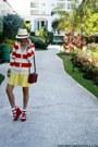 Neutral-wagw-hat-ruby-red-belleza-bag-yellow-bubbles-skirt