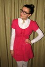 White-vero-moda-shirt-hot-pink-thrifted-eyelet-dress