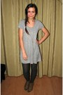 Gray-knitted-tights-camel-studded-charles-keith-boots-heather-gray-dress