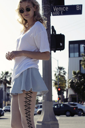 American Apparel skirt - American Apparel tights