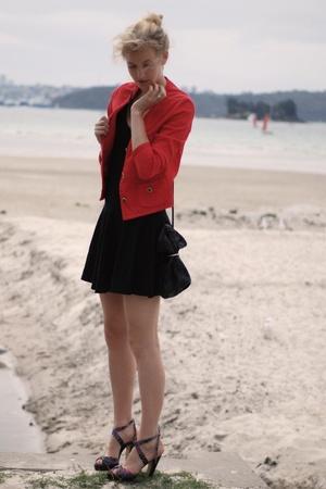 red vintage coat