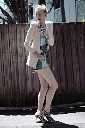 pink stylestalker jacket - white Peel - top