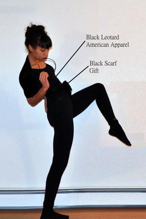 black American Apparel bodysuit