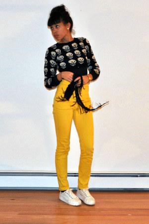skull motif Betsey Johnson sweater