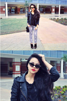 leather jacket Zara jacket - top