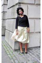 lame Liberty Vintage skirt - leather Salvatore Ferragamo bag