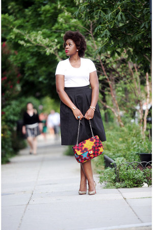 ankara Community Service bag - H&M skirt