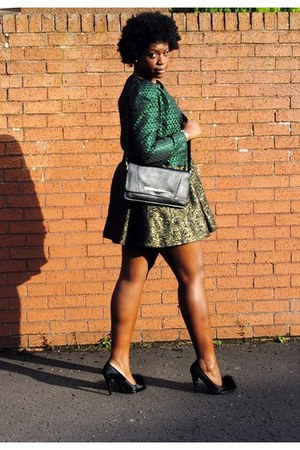 green vintage market vintage jacket jacket - gold zara zara dress dress