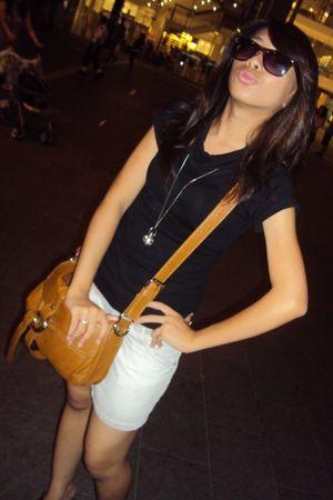 silver Gap skirt - black cotton on sunglasses - orange MNG accessories - orange