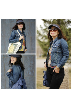 Levis jacket - Park Bravo jeans - ROOTS bag - Michael Kors sunglasses