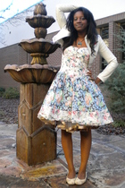 white Silence  Noise dress - white Zidisha Luxe skirt - white Old Navy shoes - w