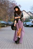 light purple Love dress - black H&M men hat - black Bershka jacket