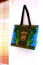 aquamarine bag - black bag - light yellow bag - green bag