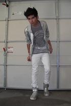 silver American Apparel jacket - gray American Apparel t-shirt - silver Anchor B