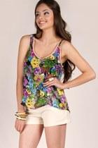flora tank rose blouse