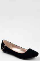 Black-stud-qupid-flats