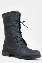 Nature Breeze LUG-11 Lace Up Combat Boot