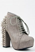 heather gray vintage boots