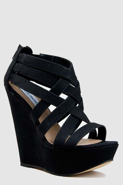 be8ea3b582e Black Steve Madden Wedges