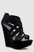 Black-steve-madden-wedges
