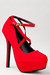 red Dollhouse pumps