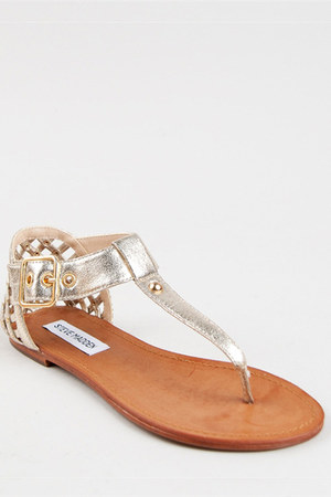gold Steve Madden sandals