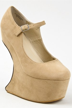 beige wedge Bumper wedges