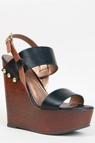 Soda CHEF Wide Strap Wooden Wedge Sandal
