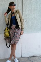 Vintage costume jacket - paolo botticelli bag - Vintage costume skirt - H&M top