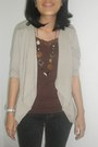 Necklace-cardigan-top