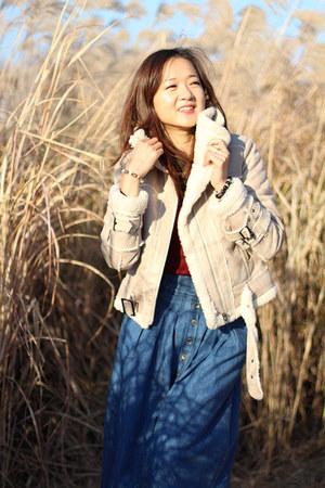 denim made in korea skirt