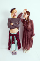 brick red havepp dress - aquamarine havepp jeans - ruby red havepp shirt