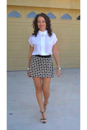 vintage blouse - vintage skirt - Guess heels