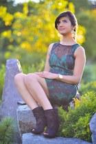 green Aidan Mattox dress