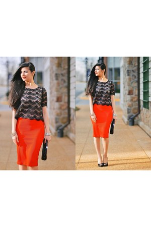 Forever 21 top - Chanel bag - H&M skirt