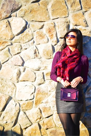 Loft scarf - banana republic coat - Louis Vuitton bag - Zara skirt