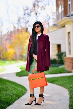 Michael Kors bag - Loft coat - ann taylor blazer - ann taylor shirt - asos skirt