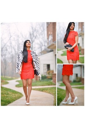 asoscom jacket - only 21 Sheinside dress - Chanel bag - asos heels