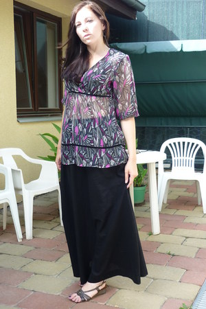 black maxi skirt H&M skirt